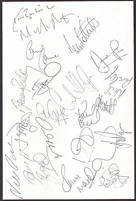 West Bromwich Albion 1993-1994 Orig Hand Signed Large Team Sheet Page 20 X Sig