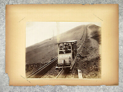 Naples. Sorrente. Italie. 10 Photographies. Vers 1900. Funiculaire. Funicolare.