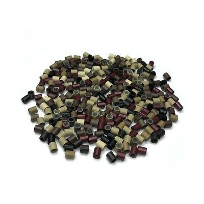 Silicone Lined Copper Tubes Rings Hair Extensions