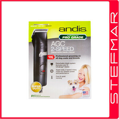 Andis Dog Clippers AGC2 ProClip 2 Speed AU 240v with #10 Blade Pet - Wahl Oster