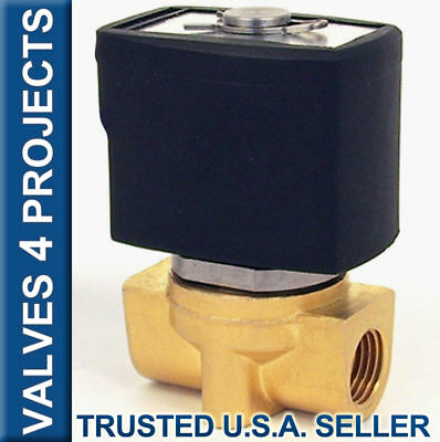 "1/4"" Electric Solenoid Valve Brass / Viton (FKM) 12V DC Air Gas Diesel B20V"