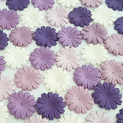 500 Purple Paper Flowers Scrapbook Cardmaking Basket Art Craft Supply P70-601