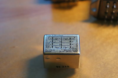 P&B hermetically sealed latching relay TL-17D-24 24vdc 4pdt NEW