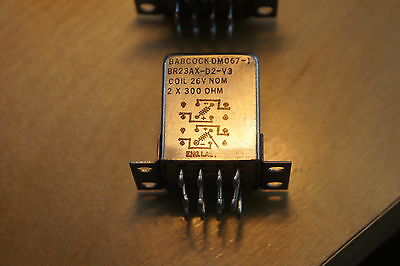 Babcock hermetically sealed latching relay DM067-1 26vdc 2x 300 ohm 4pdt NEW