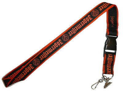 Black and Orange NEW JAGERMEISTER LANYARD with Clip for ID - Jager Jagermeifter
