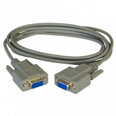 CABLE NULL MODEM RS232 DB9 DB9F FEMELLE RS 232 FEMELLE Version CROISE   EXP24h