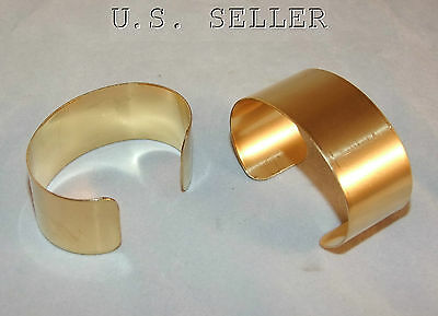 Brass Bracelet Cuff Blanks Wholesale Lot 1 inch Pkg Of 12