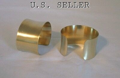 Brass Concaved Bracelet Cuff Blanks 1.5 inch Pkg Of 2