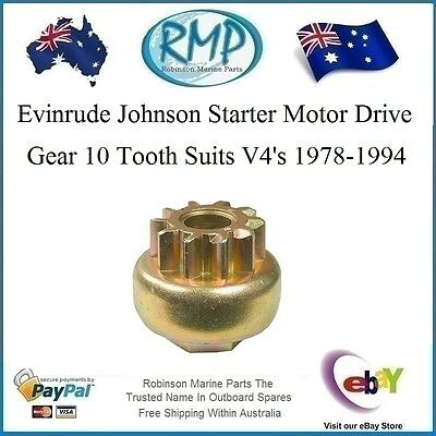 A Brand New 10 Tooth Starter Motor Drive Gear Evinrude Johnson Outboard # DV372