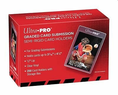 (10) Ultra-Pro Graded Card Submission Semi Rigid Holders Larger Size For Grading
