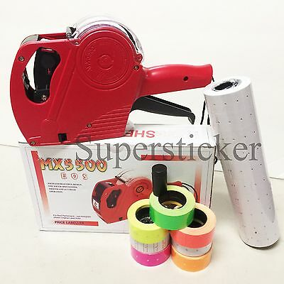 MX-5500 EOS 8 Digits Price Tag Gun Labeler + 5000 White / Blank labels +1 Ink