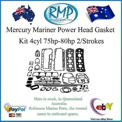 A Brand New Powerhead Gasket Kit Mercury Mariner 75hp-80hp 4cyl # 27-73645A87
