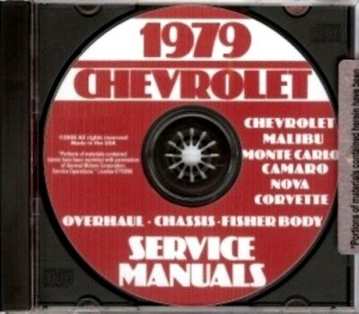 CHEVROLET 1979 Camaro, Nova, Chevelle, Malibu & El Camino Shop Manual CD