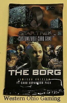 Star Trek The Borg Booster Pack from Box NEW Collectible Trading Card Game CCG