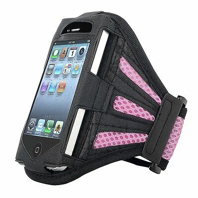 PINK Sport Running Gym Arm Band Cover Case Pouch for iPhone 4s 4