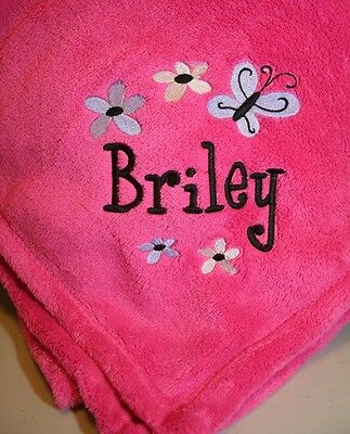 Personalized  Monogrammed Baby Blanket Extra Soft Several Colors to Choose