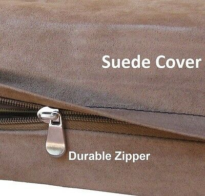 Replacement Dog Bed Duvet Cover - Small Medium to Extra Large Pet - Suede Brown