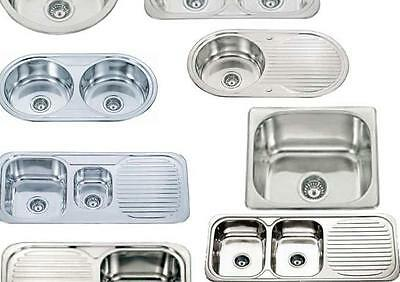 Discounted Stainless Steel Inset Topmount Kitchen Sink Choice 1.0 or 1.5 or 2.0