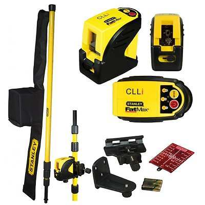 Stanley FATMAX CLLI Self Leveling Cross Line Laser Level + Extending Pole 177123