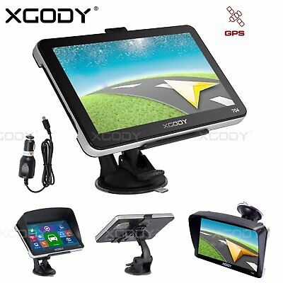 "Xgody 7"" Truck Car Gps Sat Nav Navigation System Navigator 8Gb Au Uk Eu Free Map"