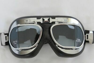 Rxt Red Baron Aviator Flying Goggles, Cafe Racer Motorcycle Or Snow Goggles