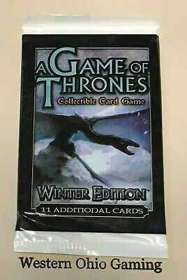 A Game of Thrones Winter Edition Booster Pack from Box NEW Trading Card Game TCG