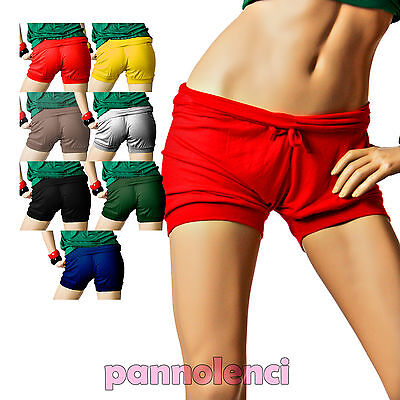 Shorts pantaloncini corti jersey viscosa donna pantaloni hot pants  AS-2073