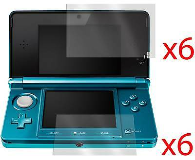6 x LCD SCREEN PROTECTOR COVER GUARD & CLOTH FOR NINTENDO 3DS