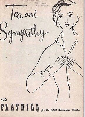 Tea And Sympathy Broadway Playbill - Joan Fontanne - 1954
