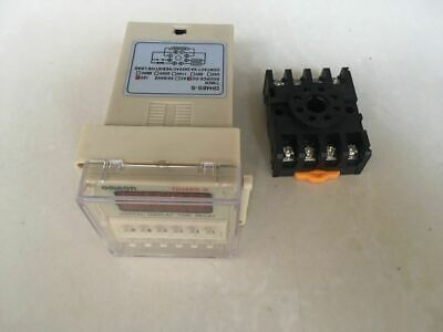 DC12V DH48S-S Programmable Double Time Delay Relay 0.1S-99H RepeatCycle Socket