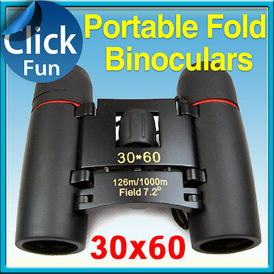 GIFT Binoculars 30x60 Zoom Folding Telescope with Coated Optics Day Night Vision