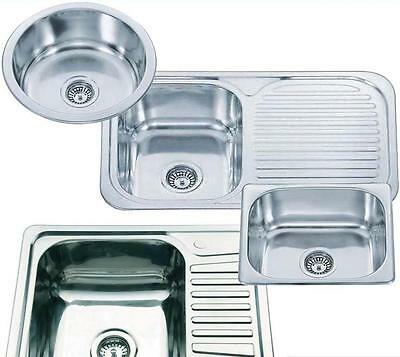 Chioce Of Smallest Round Or Square Stainless Steel Inset Topmount Kitchen Sinks