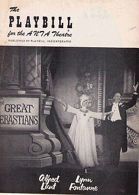 The Great Sebastians Broadway Playbill - Lynn Fontanne, Alfred Lunt