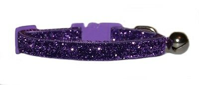 "purple  sparkle kitten cat safety  collar  7""-10"""