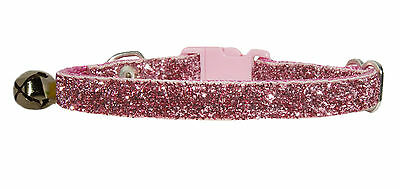 "Dusky Pink Sparkle Safety Kitten Collar 5""-7"""