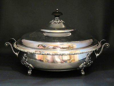 Standard Silver Co Ltd Toronto - #1233 - 4 FOOTED COVERED SERVING BOWL - 77A