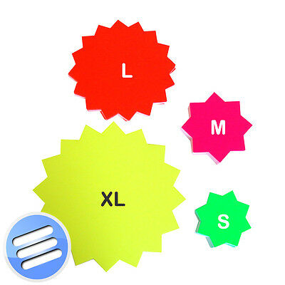 Neon/ Fluorescet/ Day Glo/ Price Display/ Pricing/ Decoration/ Flash/ Star Cards