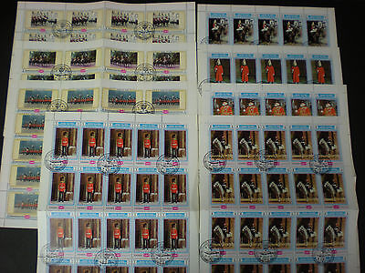 1970 Yemen Phylimpia London  Exhibition - 8 Complete Sheets