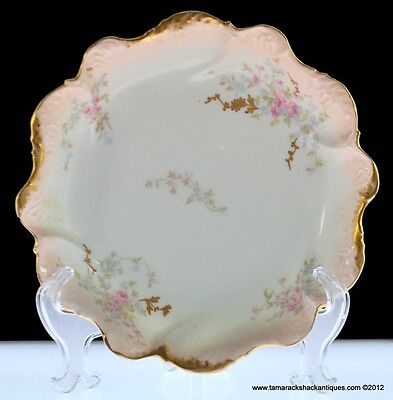 ANTQ 1900-1914 By Coiffe for Pitkin and Brookes Limoges France Gilt Floral Bowl