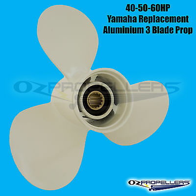 Yamaha Propeller 40 50 60HP Outboard 3 Blade Aluminium Prop All Sizes