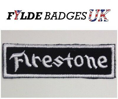 Firestone Racing Suit Badge F1 Racing Badge Embroidered Sew On Car Patch Badge