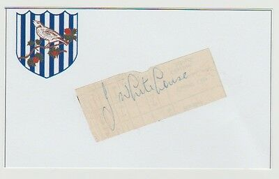 Jimmy Whitehouse West Bromwich Albion 1948-1949 Rare Orig Hand Signed Cutting