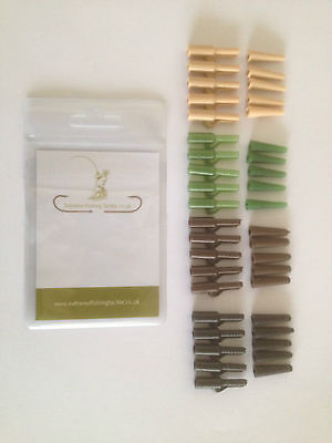 Lead Safety Clips And Tail Cones , Various Colours ** Coarse Fishing ** Carp **