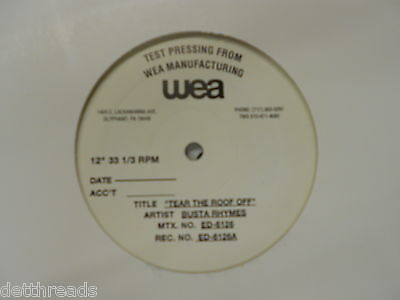 """BUSTA RHYMES - Tear The Roof Off - HIP HOP 12"""" Test Pressing"""