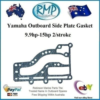 A Brand New Yamaha 2/Stroke Outboard Side Plate Gasket 9.9hp-15hp # 63V-41112