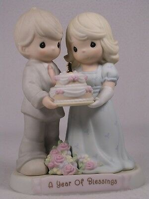 Precious Moments 'A Year Of Blessings' Figurine-To Have & To Hold  #163783 NIB