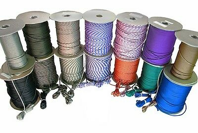 USA 550 Paracord Mil Spec Type III Parachute Cord Seven Strand Military Survival