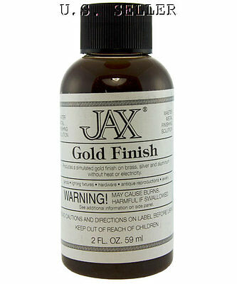 Simulated 24K Gold Finish For Brass 2 oz Bottle By Jax