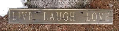 Live Laugh Love - Rustic Hand Painted Wood Sign HUGE