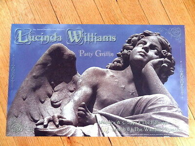 LUCINDA WILLIAMS patty griffin fillmore CONCERT POSTER 12 x 19